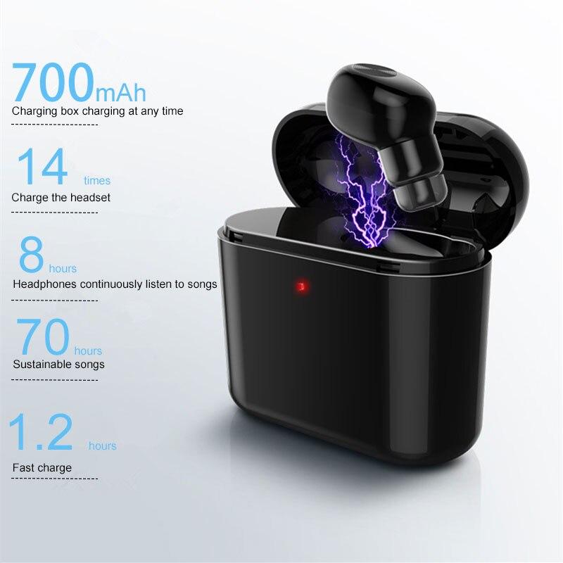 Мини беспроводной Bluetooth басовые наушники спортивные звонки наушники Bluetooth V4.2 стерео с 300 мАч/700 мАч зарядная коробка