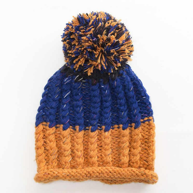 KANCOOLD Women Cap woolen pompon fluffy Knit Hedging Head Baggy Warm Hat Skullies Crochet Winter Ski Beanie Slouchy Caps PJ1012