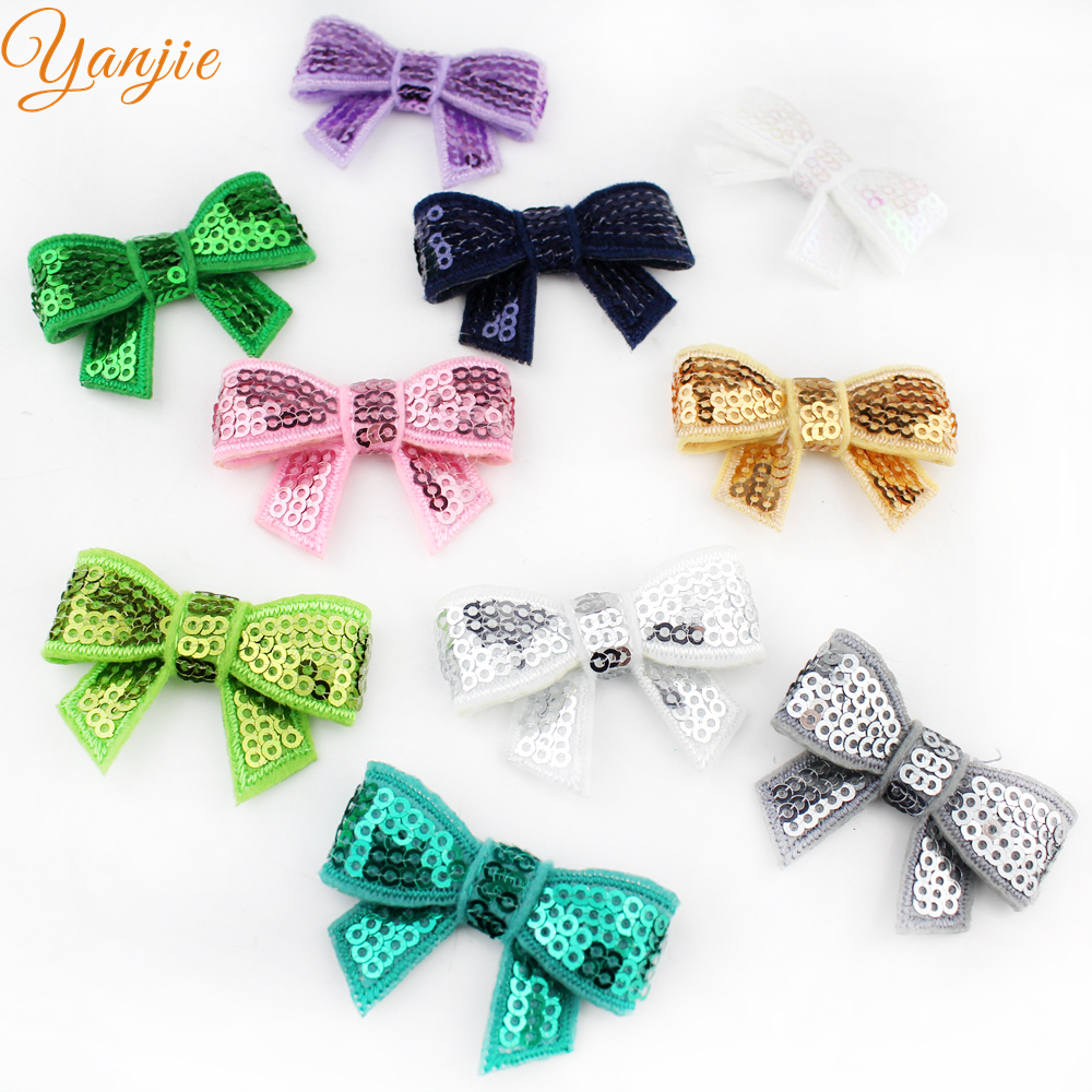"Image 5 - Free DHL 600pcs/lot Popular Summer Knot Applique 1.8"" Sequins Hair Bow Barrette For Girl Hairpins Hair Clips Hair Accessoriesbow barrettebarrettes for girlssequin hair bows -"
