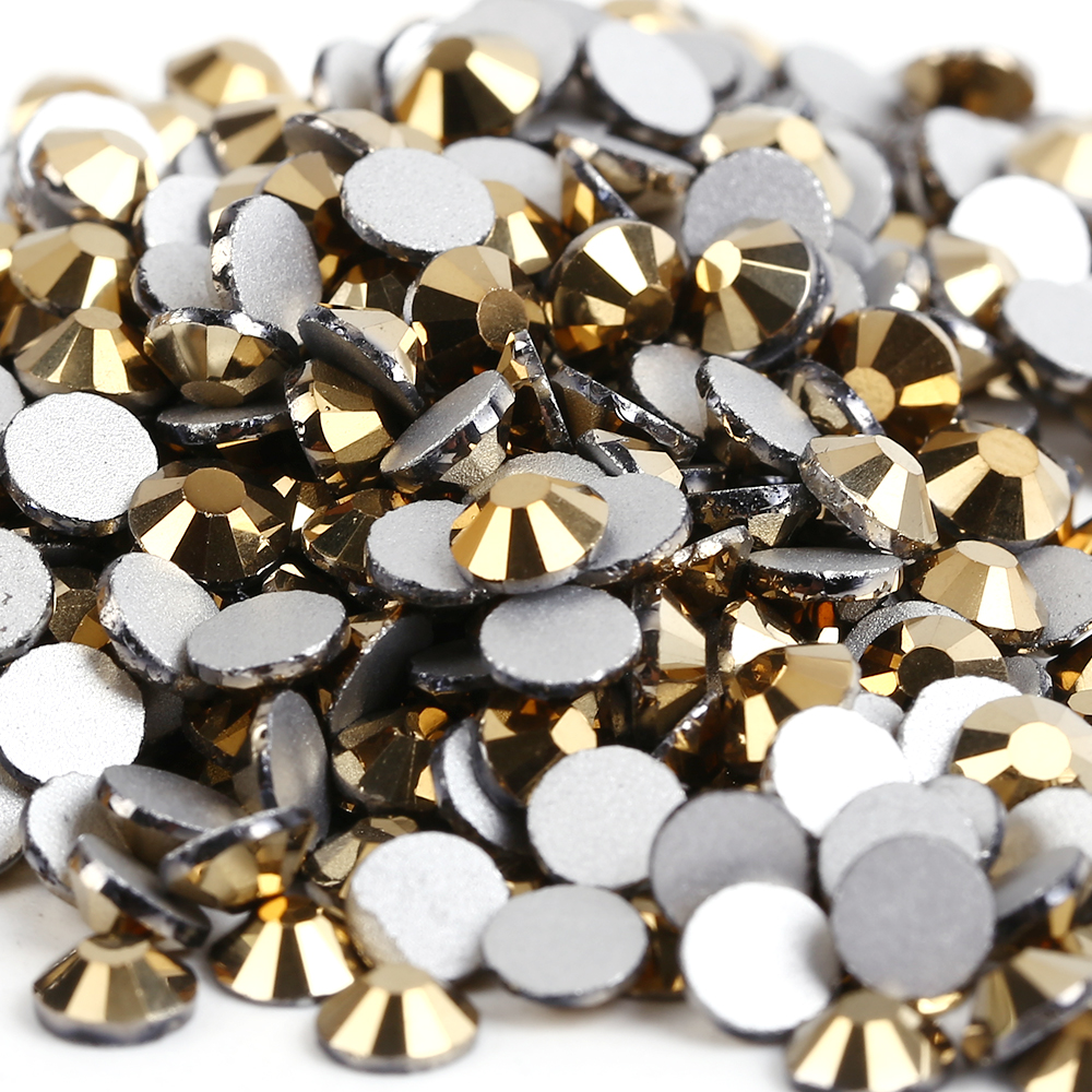Gold Hematite / Aurum 3D Nail Art ss3 ss4 ss5 ss6 ss8 ss10 ss12 ss16 ss20 ss30 ss34 Glass/Crystal Nails Non HotFix Rhinestones hot sale power amp board 68w 68w lm3886 amplifier board with circuit protection