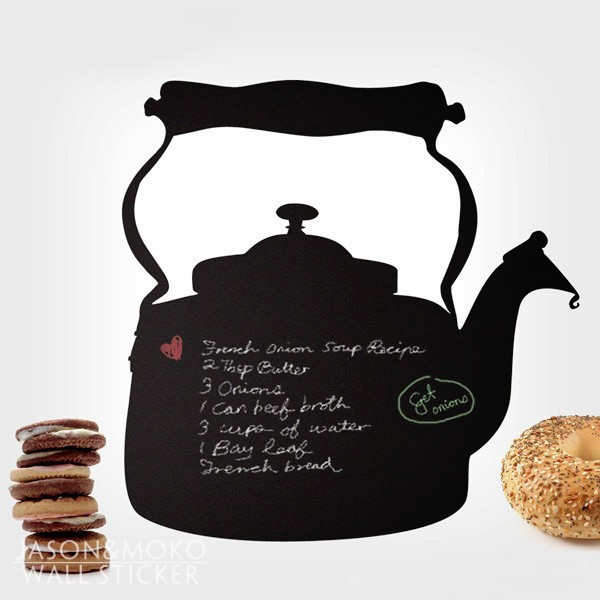 Kettle Chalkboard Wall Sticker - Memo Chalkboard Decal-Wall Sticker for Kitchen or Dining Room home decoration