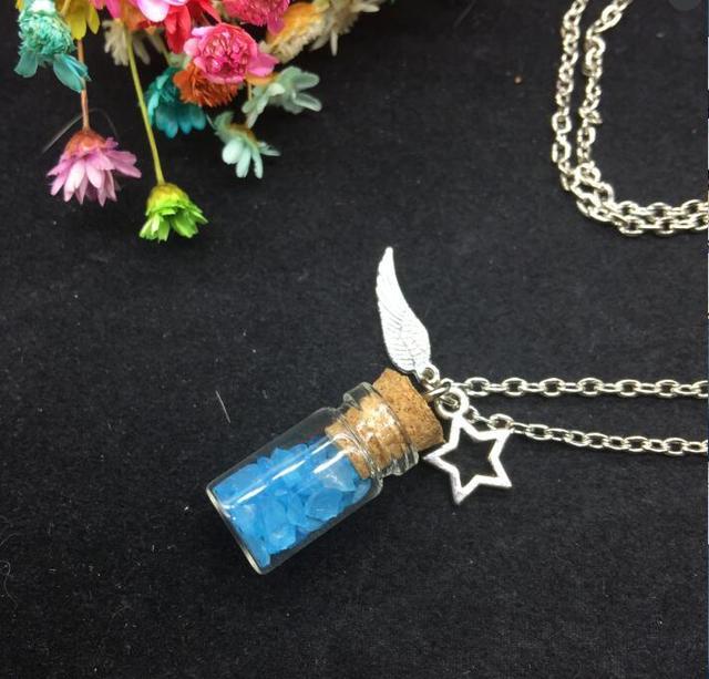 1setslot handmade pendants luky necklace ocean sea sand glass 1setslot handmade pendants luky necklace ocean sea sand glass energetic charm cork glass vial mozeypictures Choice Image