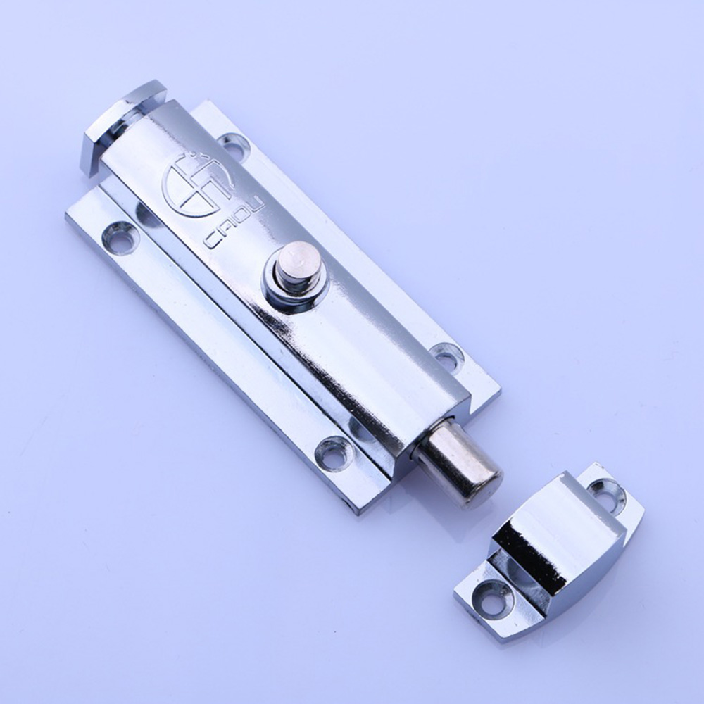High Quality Home Door Window Zinc Alloy Security Slide Bolt Lock For Bathroom Toilet Spring Latch