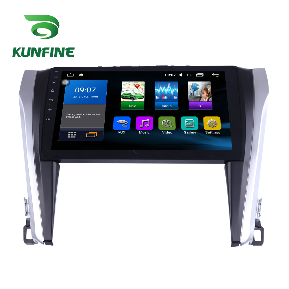 Octa Core 1024*600 Android 7.1 Car DVD GPS Navigation Player Deckless Car Stereo for Toyota Camry 2015 2016 2017 Headunit