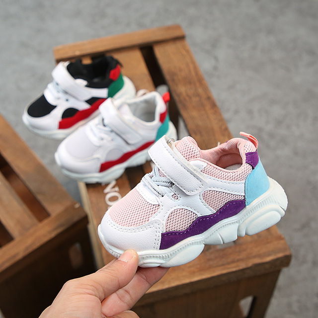 2019 Spring Baby Girls Boys Casual Shoes Infant Toddler Shoes Soft Bottom Non-slip Comfortable Shoes Kids Children Sneakers