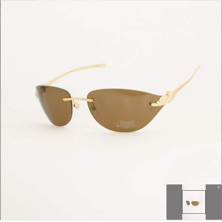 Rimless optical carter glasses frames men pathere eyewear frame women clear brand designer panther eyeglasses fill prescription