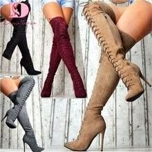 DoraTasia/брендовые дизайнерские вечерние босоножки с острым носком; женская обувь; обувь на высоком каблуке; женские ботфорты; большие размеры 35-47