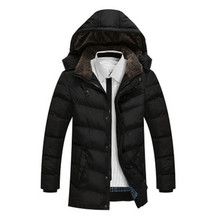 2017 Casual Hooded Coats Winter Parkas Men's Jackets Men Outerwear Thick Cotton Jacket Male Brand Clothing