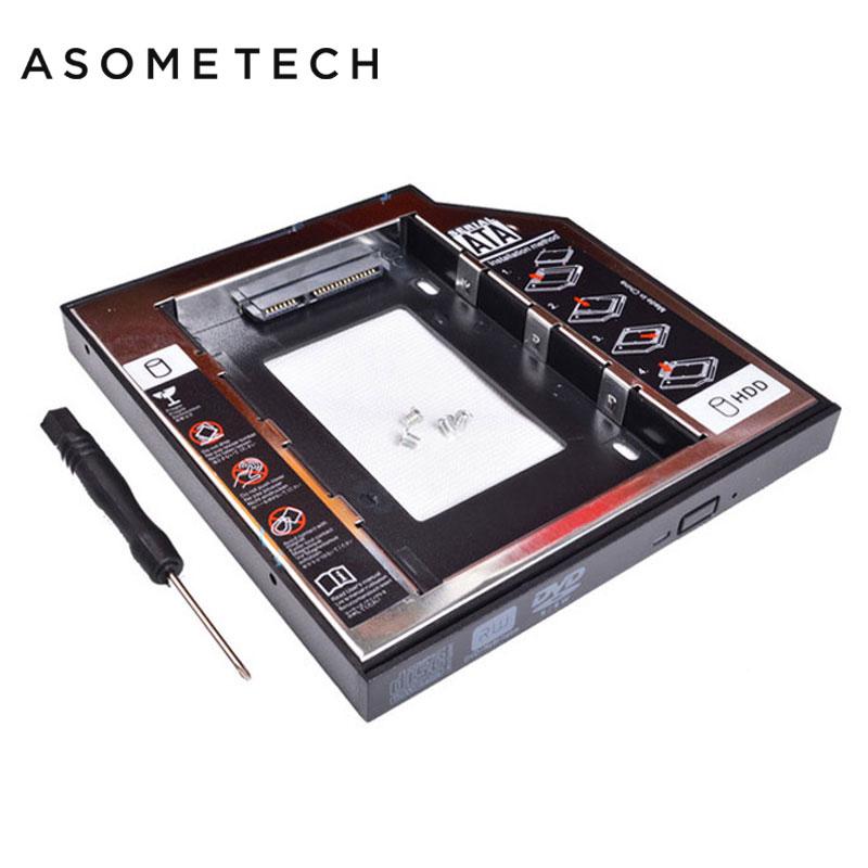 Für Laptop Aluminium Optibay 2nd HDD SDD Caddy Fall 12,7mm SATA 3,0 ...
