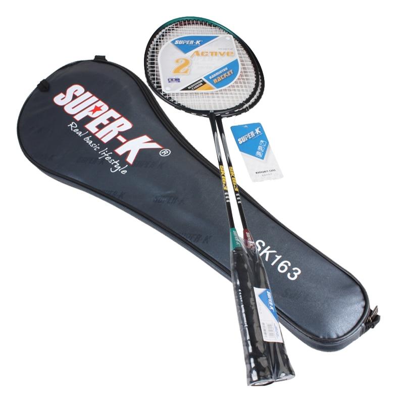 2 шт. Ферро сплав обучение Бадминтон ракетки, спортивные Оборудование Прочный Бадминтон ракетки с сумка