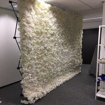 Черный цветочный Настенный Складной стенд, рамка для свадебного фона, прямой баннер, демонстрационные стенды, торговые рекламные материалы