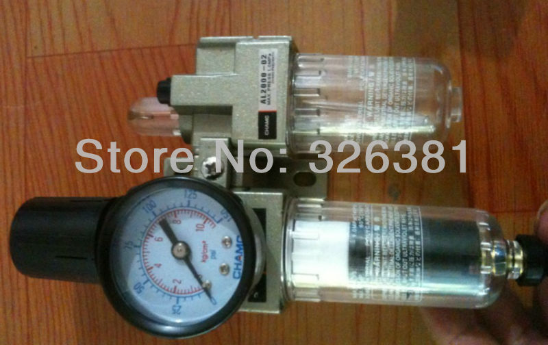 CHAMC G1/4 Air Filter Regulator Lubricator Combinations Water Oil Separator Max. Pressure 9.9kgf Air compressor parts afc 2000 1 4 bspp pneumatic air filter regulator lubricator combinations oil separator high quality in stock