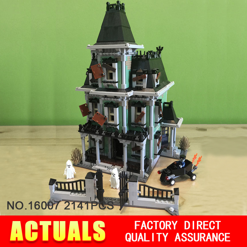 New font b LEPIN b font 16007 2141Pcs Monster fighter The haunted house Model set Building