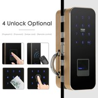 Smart Touch Keypad Fingerprint 12mm Thickness Glass Door Lock Support IC Card and Password Auto Locks Remote Control