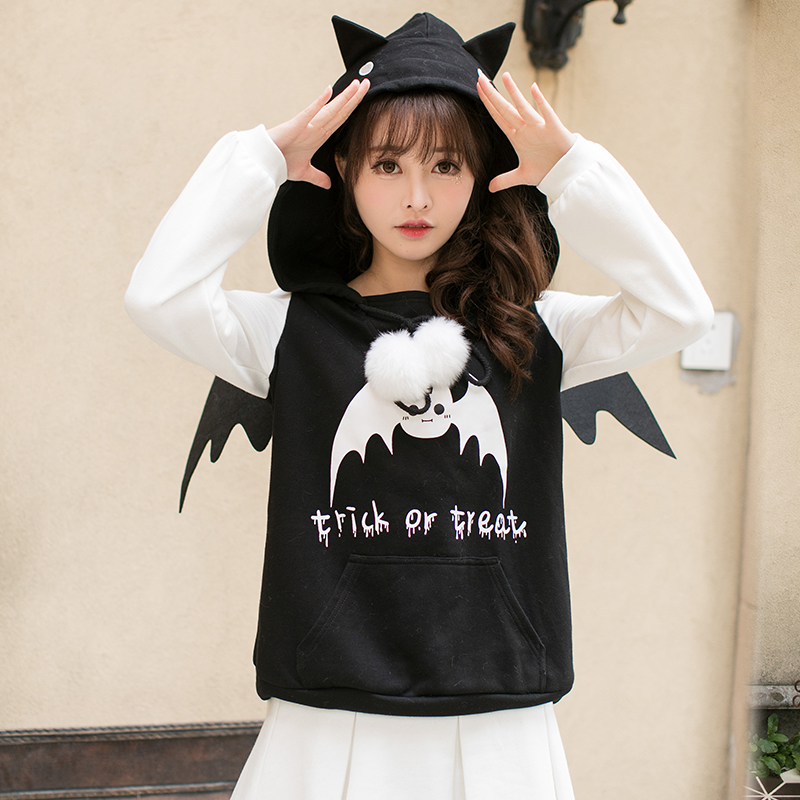 Princess sweet lolita Hoodies Candy rain in the winter of Japanese sweet printed long sleeved Hooded