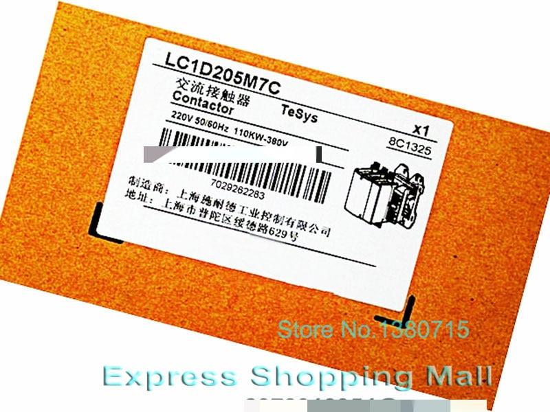 New LC1D205M7C TeSys D Contactor 205A AC 220V 50/60Hz LC1-D205M7C new cad32mdc dc220v tesys d series contactor control relay 3no 2nc
