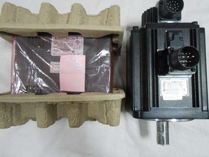Delta CNC 220V 2kW AC Servo Keyway Brake Motor Drive kits 6.37NM 3000r/min 100mm with 3M cable ECMA-C11020SS+ASD-A2-2023-L цена