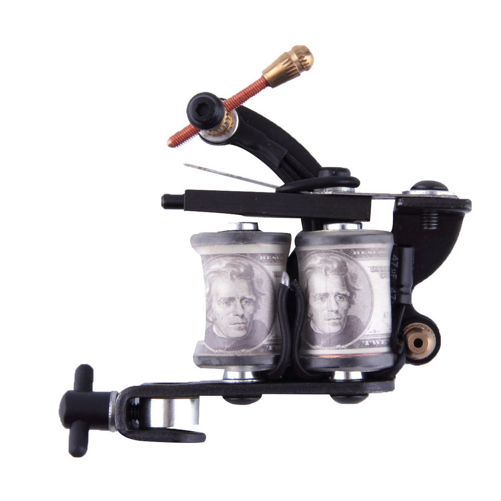 10 Pcs Hot Sales Wire Cutting Wrap Coils Tattoo Machine For Liner And Shader Black Color Iron Tattoo Supplies