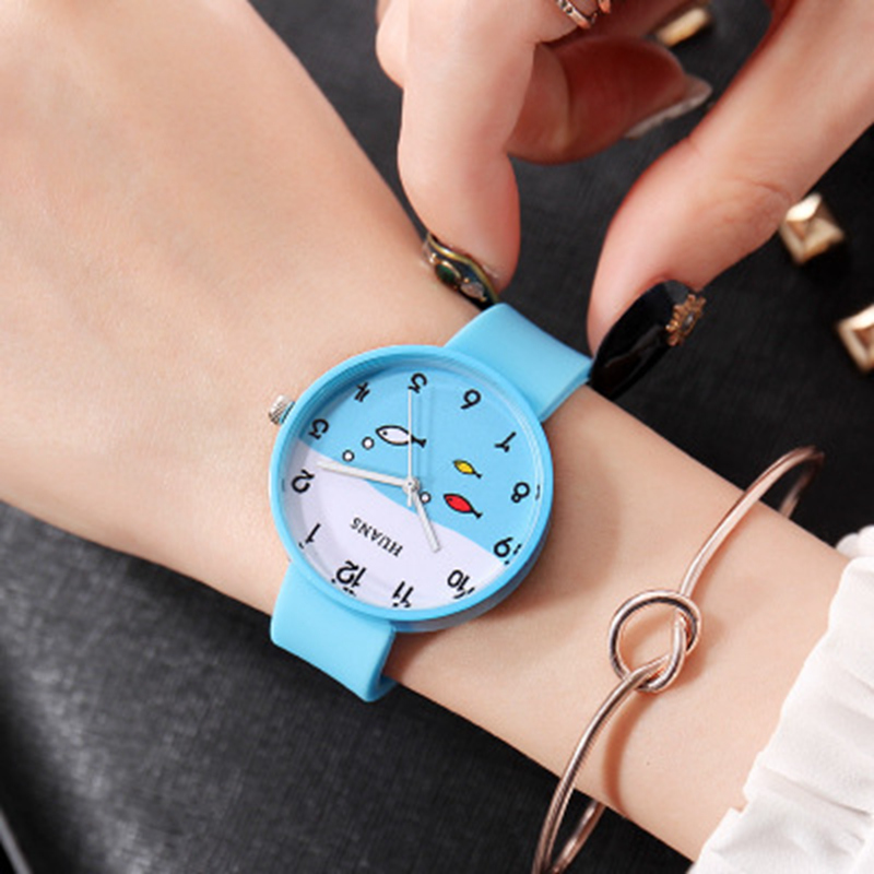 Relogio Feminino 2019 New Relojes Cartoon Children Watch INS Style Watches Fashion Kids Cute Rubber Leather Quartz Watch Girl
