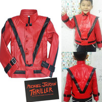 RARE MJ Michael Jackson Thriller Children Kids Jacket Costumes Gift Perfromance Party Birthday Halloween Costume Christmas Fans