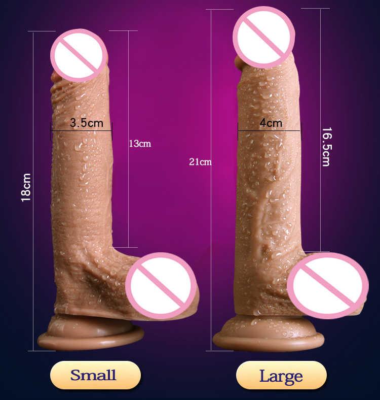 Super realista suave de silicona vibrador con ventosa pene masculino artificial Dick mujer masturbador juguetes sexuales para adultos consoladores para mujeres