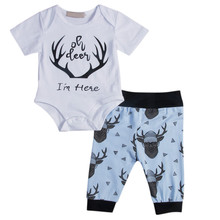 New Cartoon Cute Fashion Newborn Baby Boys Girls Unisex Outfits 3PCS Set Bodysuit Short Sleeve Pants Floral Print Leggings Hat