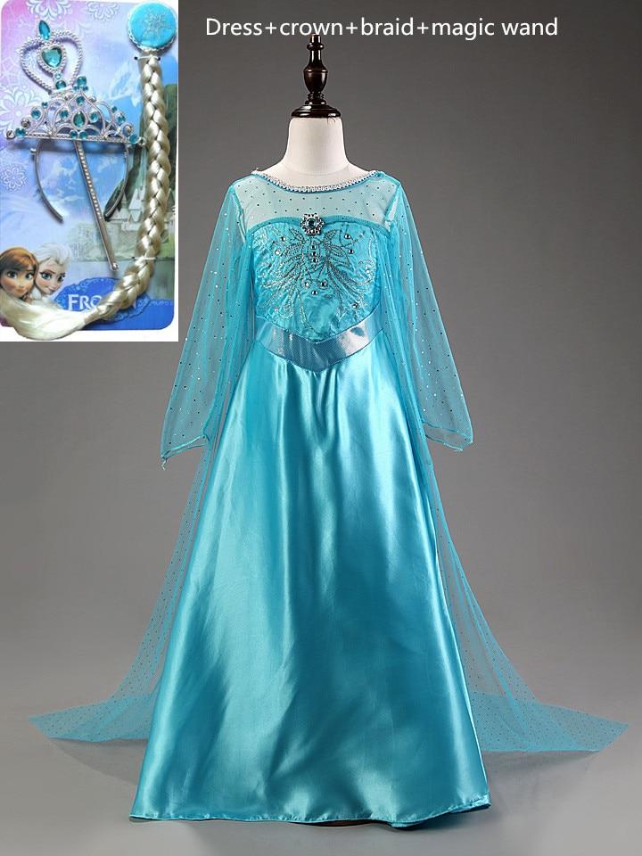 KidsCastillo Elsa Dress Princess girls costumes Halloween