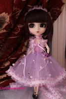Free Shipping High Quality Handmade 3pcs Set Dress Doll Clothes For Blythe Licca Pullip Doll Accessories
