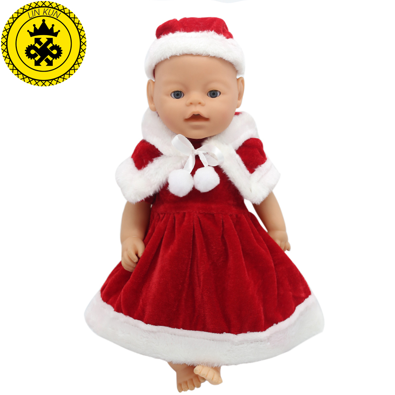 43cm Baby Born Zapf Red Christmas Dress Suit Doll Accessories Leisure Clothes Children Christmas Happy Gift Girl Lucky 030 rose christmas gift 18 inch american girl doll swim clothes dress also fit for 43cm baby born zapf dolls