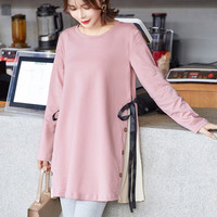 Fashion Autumn And Winter Medium long Plus Size Maternity Sweaters Dress Knitted Loose Pullovers Clothes For Pregnant Women