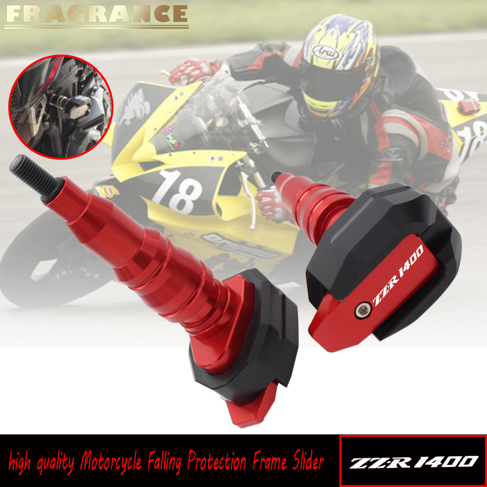 For KAWASAKI ZZR1400 ZZR 1400 NINJA ZX-14R Motorcycle Falling Protection Frame Slider Fairing Guard Anti Crash Pad ProtectorFor KAWASAKI ZZR1400 ZZR 1400 NINJA ZX-14R Motorcycle Falling Protection Frame Slider Fairing Guard Anti Crash Pad Protector