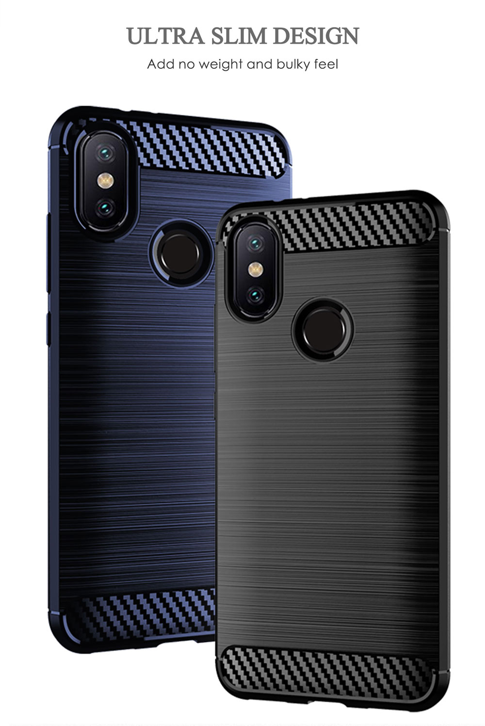 Image 4 - Phone case For Xiaomi Mi A2 6X Mi6X MiA2 A 2 6 X Xiaomi6X XiaomiA2 Silicone Rugged Armor Soft Fiber Cover Carbon Fundas Coque-in Half-wrapped Cases from Cellphones & Telecommunications