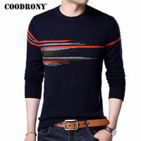 COODRONY Sweater Men 2017 New Fashion Pattern O Neck Pull Homme Winter Thick Warm Wool Sweaters