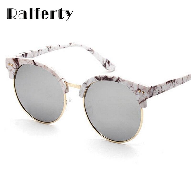 Ralferty Vintage Coréenne Ronde Polarisées lunettes de Soleil Femmes Marque  Designer Cercle Soleil Lunettes Pour Femme Nuances Points oculos 6507 ebd318a96df2