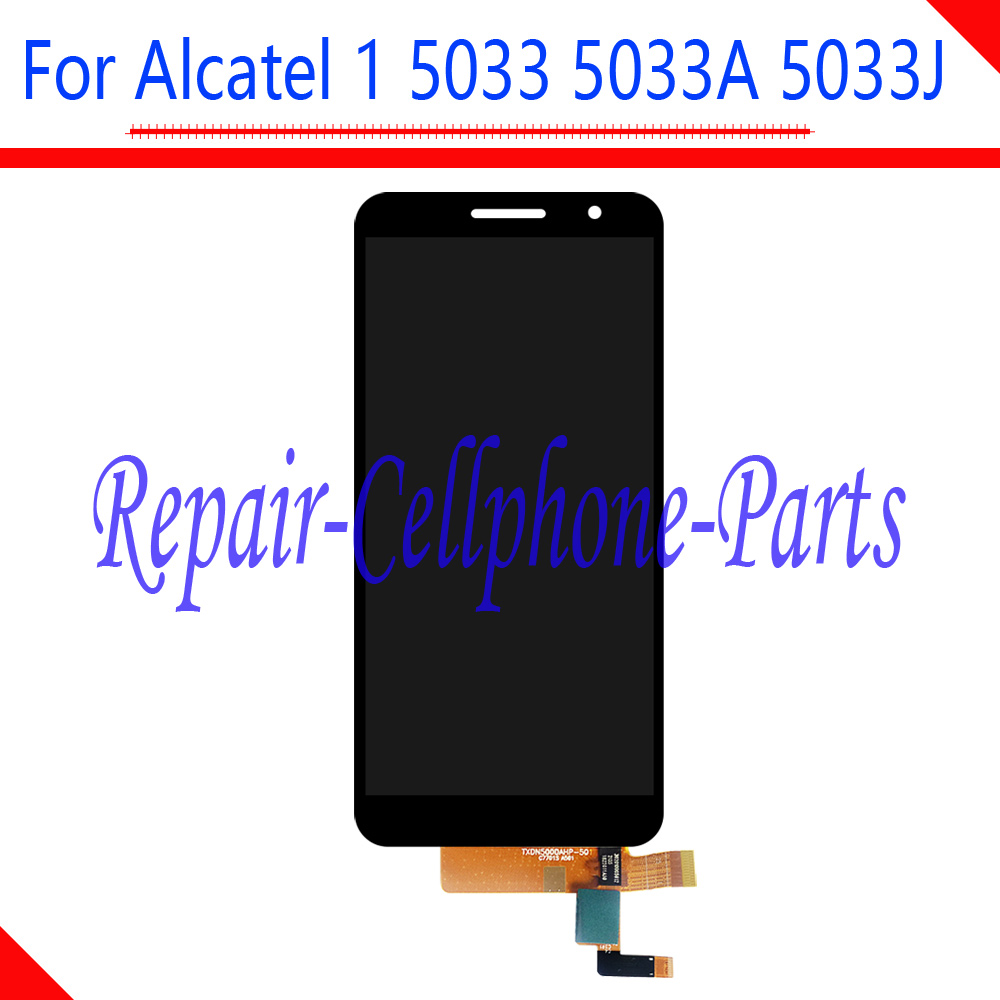 4.9 inch Black Full LCD Display +Touch Screen Digitizer Assembly For Alcatel 1 5033 5033A 5033J 5033X 5033D Free Shipping4.9 inch Black Full LCD Display +Touch Screen Digitizer Assembly For Alcatel 1 5033 5033A 5033J 5033X 5033D Free Shipping