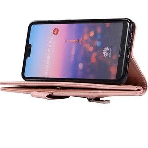 Image 4 - Huawei P40 P30 Pro P20 lite Case Flip Cover Glitter Zipper Wallet Phone Case Huawei Mate 30 20 lite 10 Pro Magnetic Leather Case