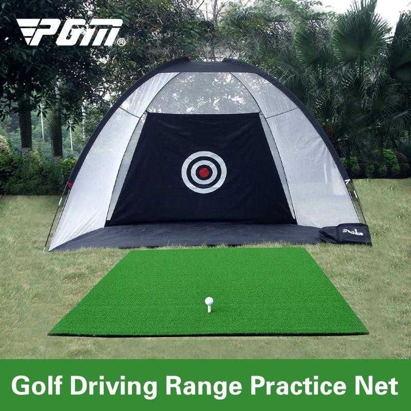Foldable Golf Hitting Cage Training Aids Indoor Outdoor Sport Golf Cage Swing Trainer Pad Set Garden Grassland Golf Practice Net|Golf Training Aids| |  - AliExpress