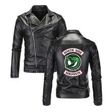 Southside Riverdale Leather Jackets Men Serpents Turn-down collar sout