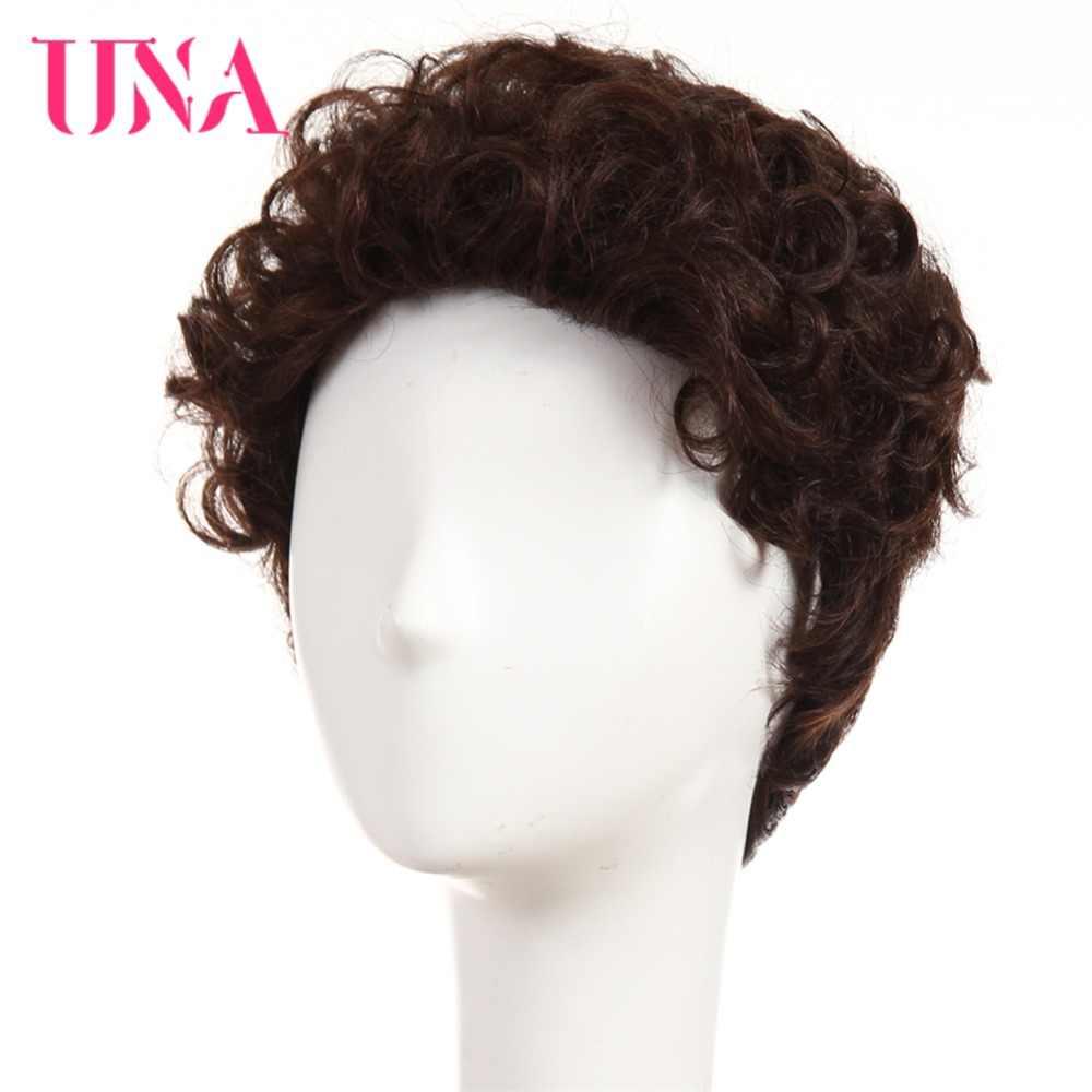 """Widget można wykorzystywać jako karaoke UNA wody fala Indian ludzkie włosy peruki nie Remy włosów 6 """"120% gęstość kolor #1 # 1B #2 #4 #27 #30 #33 # 99J # BUG #350 #2/33"""