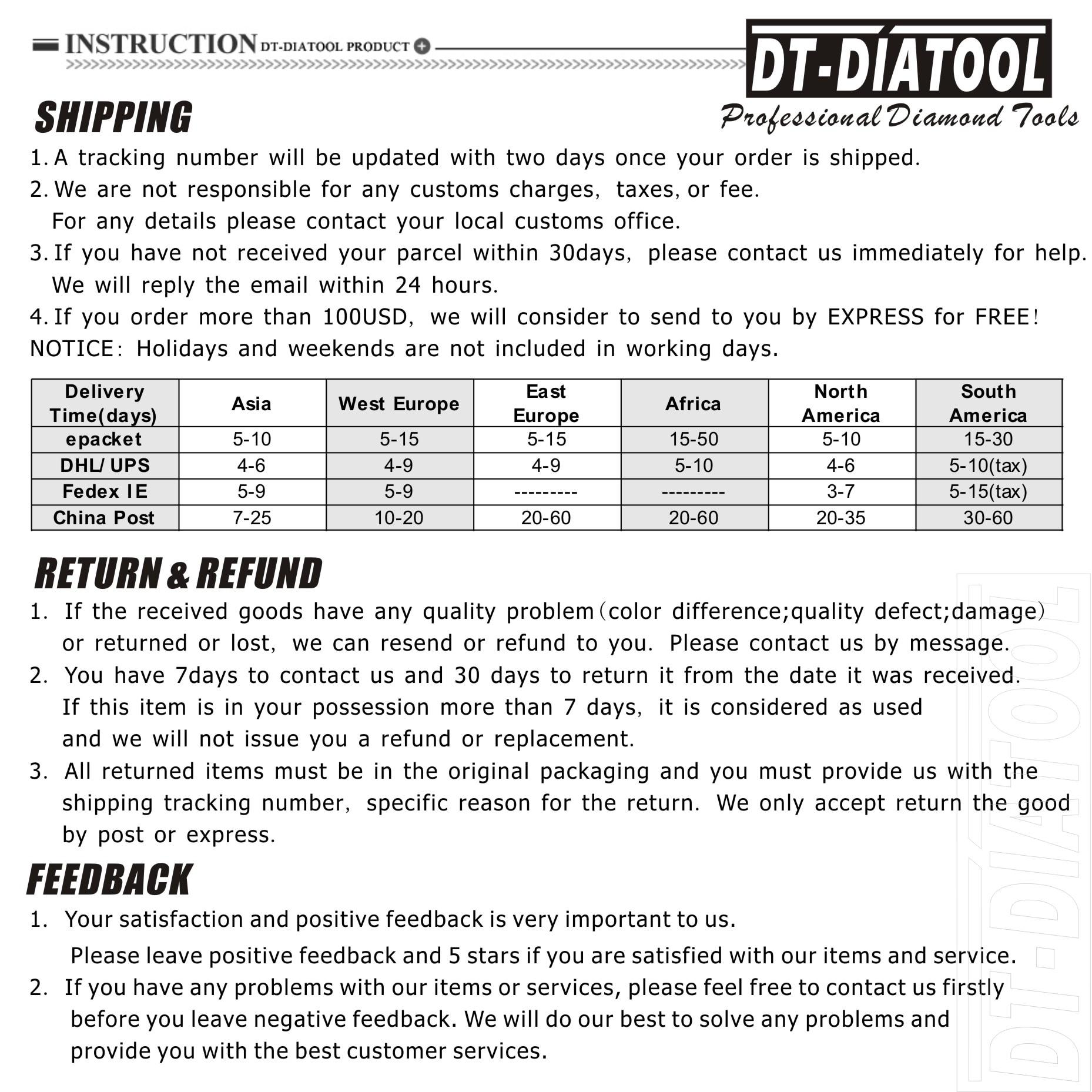 DT-DIATOOL 2 unidades 100mm 4