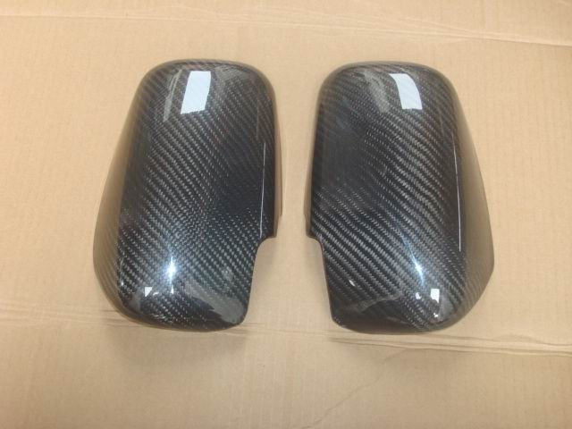 Carbon Fiber Mirror Cover For Mitsubishi EVO 7 8 9 ...