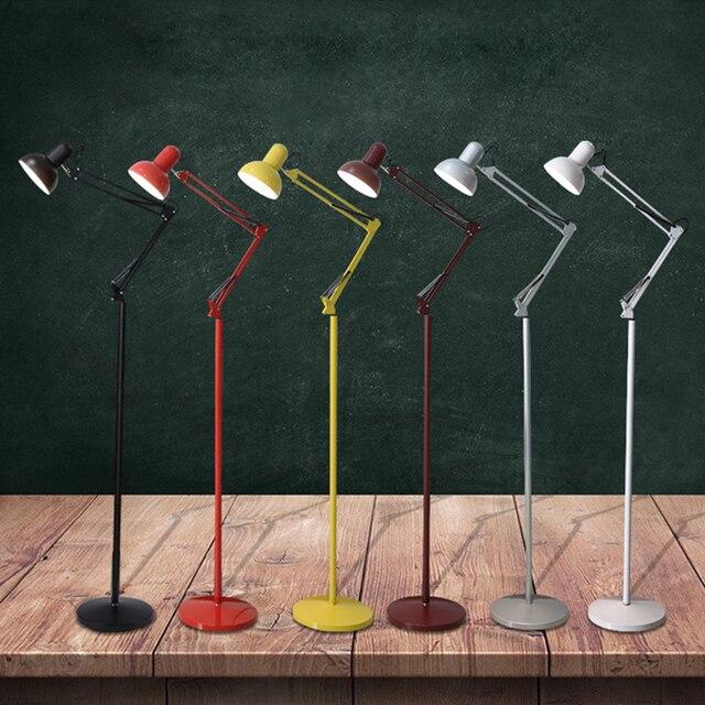 Réduit Moderne nordique minimaliste en fer forgé réglable lampadaire ...