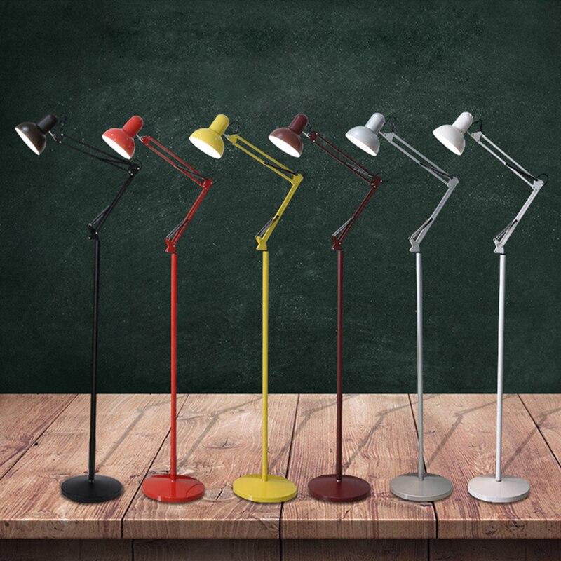 Moderne nordique minimaliste en fer forgé réglable lampadaire E27 220 V lumières salon chambre cuisine salon étude hôtel