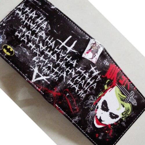 2018 DC Comics The Batman Joker character LOGO wallets Purse Multi 12cm Leather W351 брелок dc comics the joker card