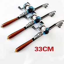 แบบพกพาก้านตกปลา hard สั้น telescopic rod ultralight travel stick pesca ขั้วโลก 1.0 1.5 m carbon rod