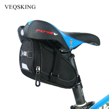 Waterproof Bicycle Rear Tail Seat Bag Mountain Road Bike Riding Cycle Saddle Bag Outdoor Bicycle Pannier Seatpost Pouch 3Colors