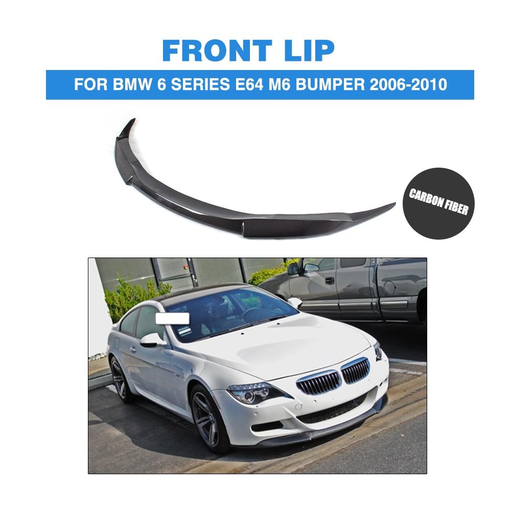 Carbon Fiber Front Lip Spoiler Chin For BMW 6 Series E64 M6 Bumper 2006-2010 front bumper lip Car Styling
