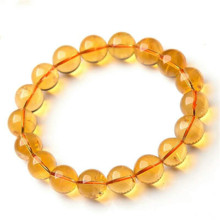 цены Genuine Natural Yellow Citrine Crystal Clear Round Beads Bracelet 12mm Women Gemstone Wealthy Stone Birthday Gift AAAAA