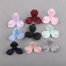 Wholesale Fabric Flower Petals Girls Hair Jewelry Ornament Shoes Handbag Decor Floral Button Patch Sticker Craft Fit Ornaments