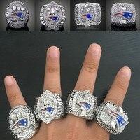 New England Patriots Кольца чемпиона 2001 2003 2004 2014 для вентилятора коллекция подарок Бесплатная доставка 4 шт./лот оптовая продажа gt-4